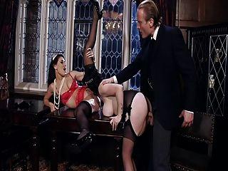 British Sluts Get Fucked In Stockings In A Ffm Threesome