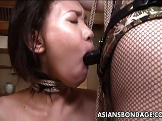 Tattooed Up Asian Domina Strap On Fucking The Sub
