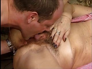 Horny Granny Gets A Fuck And Facial !