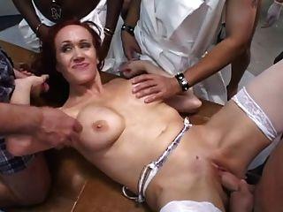Big Tit Nurse Gets Gangbanged