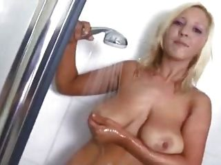 Grace Mckenzie Strips And Teases In The Shower