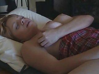Huge Boobs Blonde Masturbates,by Blondelover.