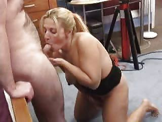Hot Mature Makes A Blowjob While Masturbate Herself With A Dildo