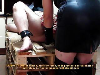 Pins & Penis Spanking With A Rubber Ruler
