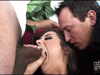 Cuckold Watching His White Wife Fucked By Black Guy