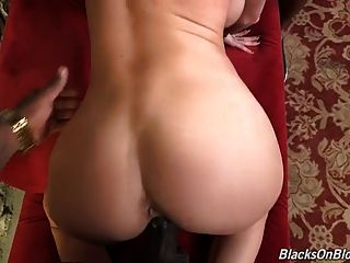 Perfect White Slut Ass Fucked By Two Blacks