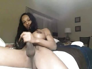 Busty Black Beauty Shows Her Bbc