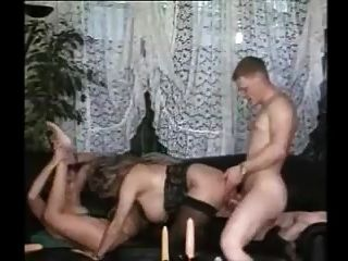 Hot Threesome With Stunning German Milf In Stockings