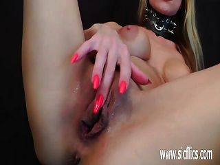 Busty Brunette Fist Fucked In Her Greedy Pussy