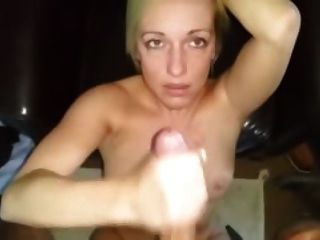 Dirty British Slag Wanks Cock Then Takes Nut To The Face