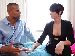 Gorgeous Transsexual Nina Lawless Gets Fucked