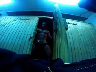 Str8 Daddy Risky Cum At The Sauna Gym Ll