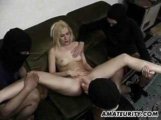 Amateur Girlfriend Anal Orgy With Facials