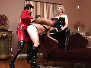 Two Mistresses Fuck Their Slave
