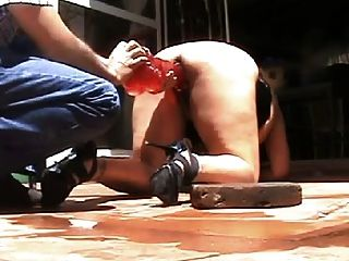Big Ass Slave Beautifully Whipped And Dildoed