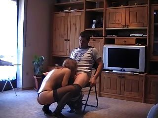 Young Hottie Lapdance And Suck Off In Stockings