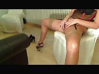 Nylon, High Heels And Fingering