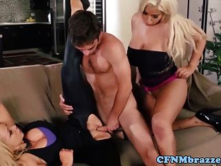 Cfnm Femdom Babes Dominate Guy And Fuck His Dick