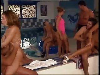 German Indoor Pool Orgy