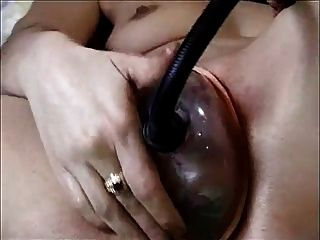 Pussy Pump And Dildo Fun