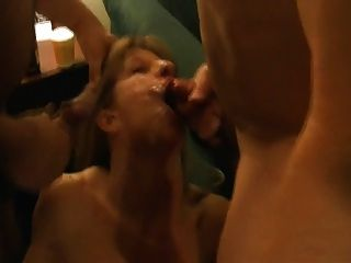 Wife Blows 2 Cocks