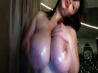Webcams 2014 - Monolithic Romanian Tits 1: Lotion Show