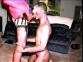Brunette Tranny Slut Giving Head & Gets Banged