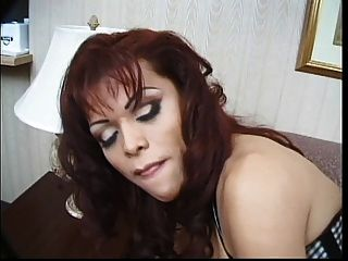 Gorgeous Brunette Tranny Gets Her Hard Dick Sucked By Guy Then Fucks