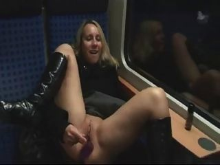Chick In Stockings And Boots Rough Fuck Outdoors