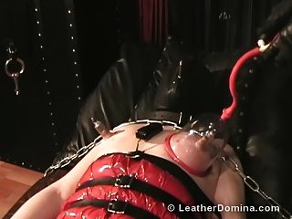 The Leather Domina - Leather Bondage - Nipple Torture