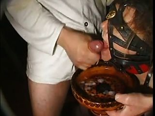 Bukkake With French Slave