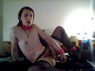 Riding My Big Black Dildo