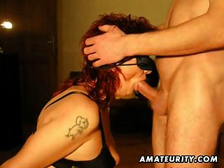 Redhead Amateur Milf Sucks And Fucks With Cumshot