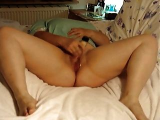 Chubby Mature Masturbates On Bed