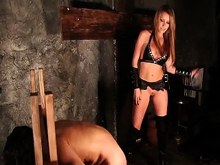 Caning In Stocks For Slave