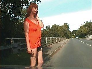 Zoe Transvestite Exhibitionist Bitch Flashes Her Pretty Bum