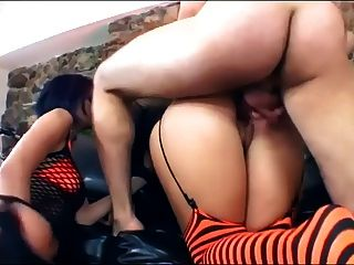 Threeway With Carmella And Naudia In Lingerie