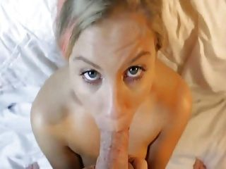 Blonde Amateur With Massive Tits Is Drenched In Cum