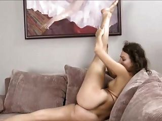 Simona Masturbates On Sofa