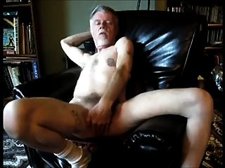Old Horny Man Having Fun