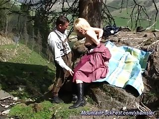 German Mountain Anal Fuck