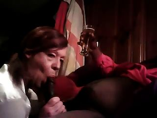 Sissy Bitch Works Daddys Bbc With Her Mouth And Throat
