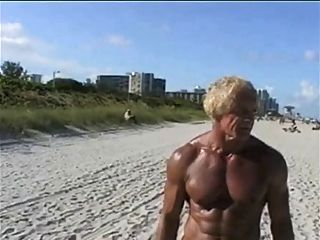 70 Year Old Bodybuilder On Nude Beach