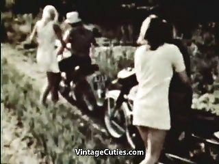 Hitchhiker Bitches Get Fucked Hard (1960s Vintage)