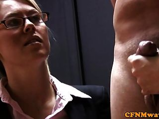 Cfnm Office Sluts Talk As They Jerk Cock
