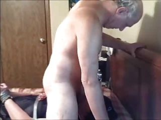 Mature Cd Face-fucked While Bound