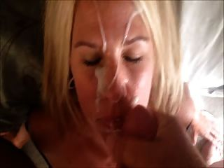 Hot Blonde Milf Huge Facial