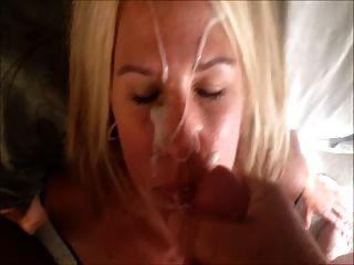 Hot Blonde Milf Huge Facial