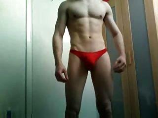 Red Thong Boy Teasing