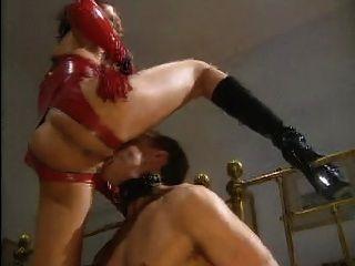 One Femdom Mistress 3 Slaves